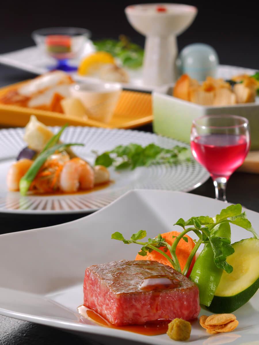 <朝夕食個室>山形牛ステーキメインの新感覚和洋食