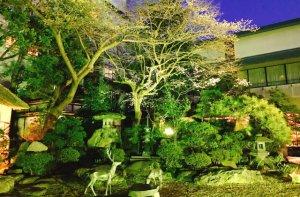 中庭の夕景