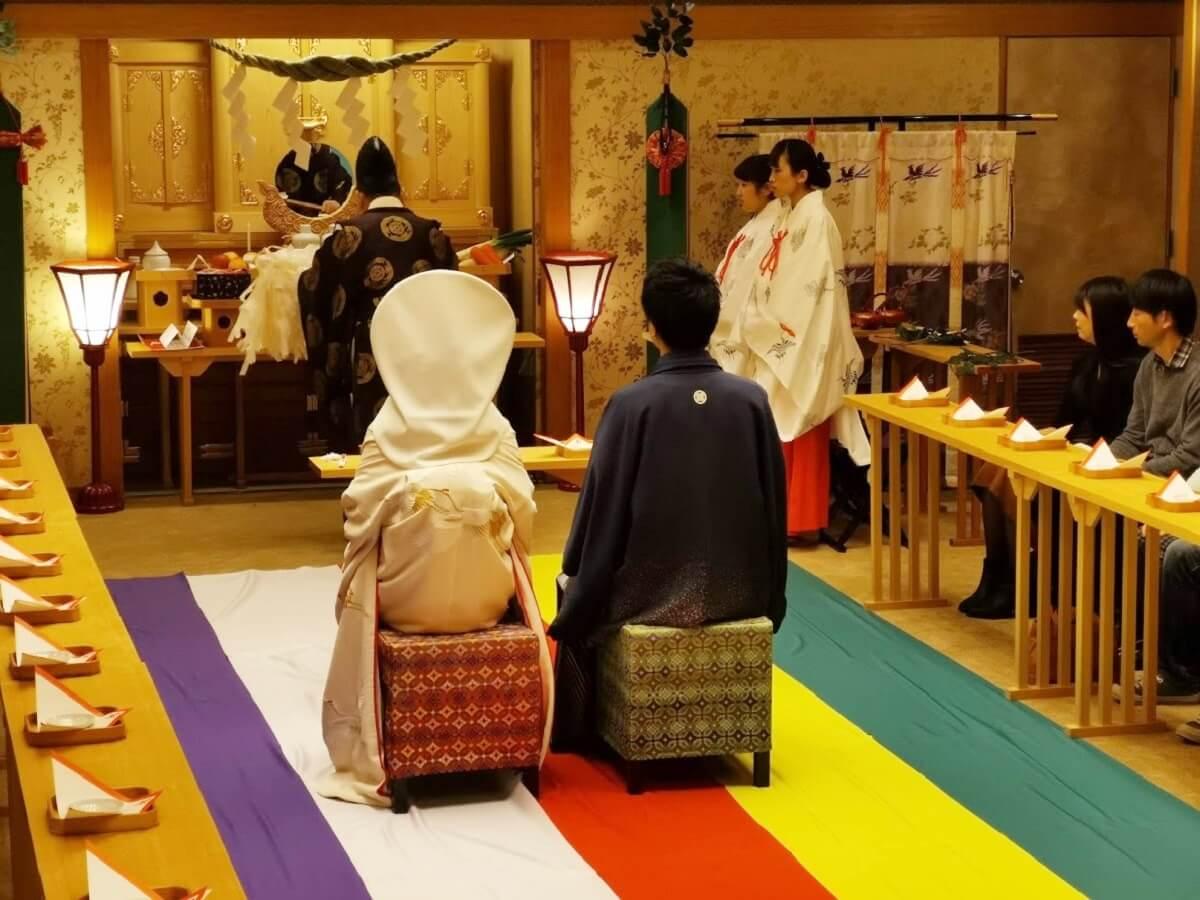 山形県天童温泉ほほえみの宿滝の湯ブライダルフェア神前式イメージ