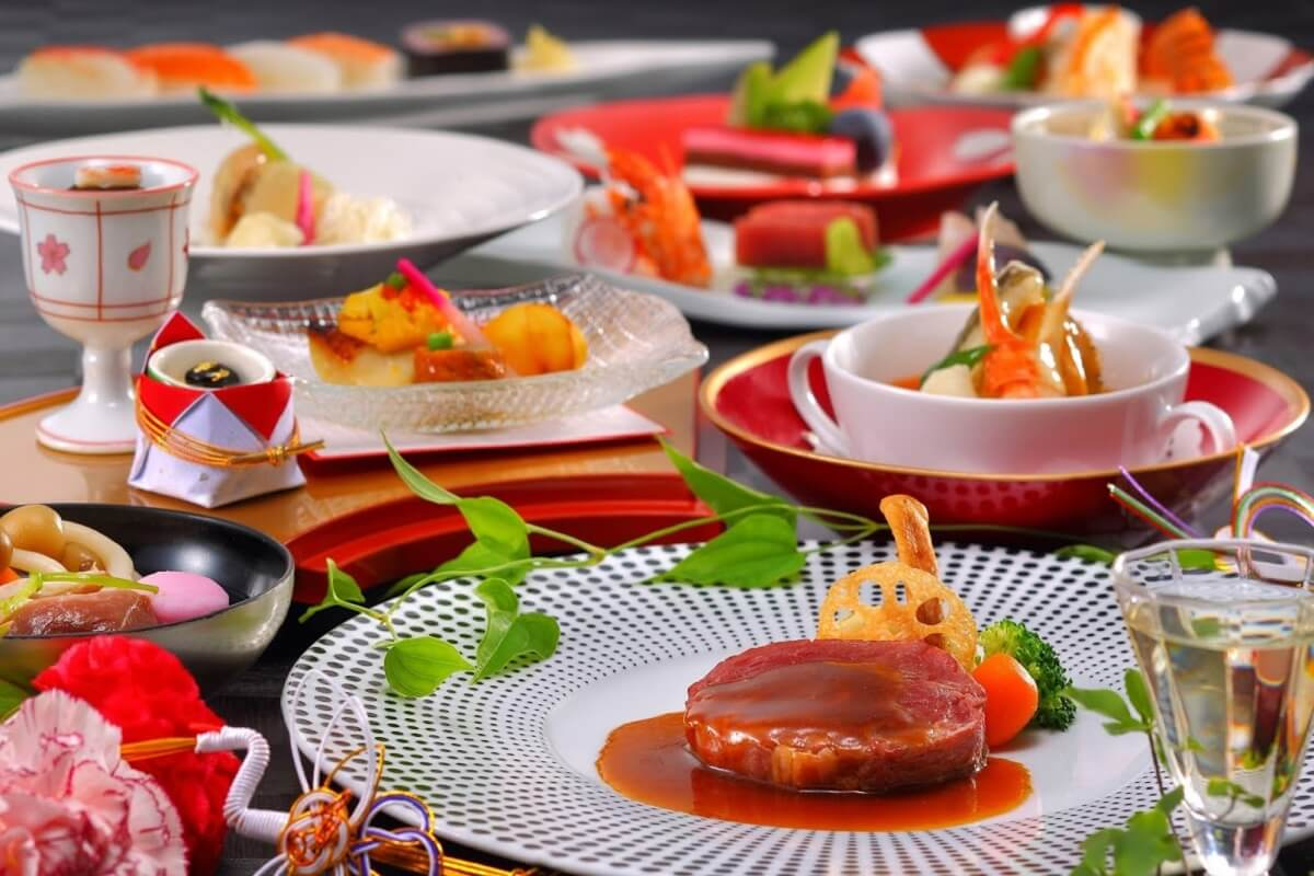 山形県天童温泉ほほえみの宿滝の湯婚礼料理イメージ